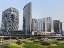 Im Stadtzentrum gelegene Ansicht Macao-Stadt Stockbild