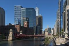 Im Stadtzentrum gelegene Architektur Chicagos Lizenzfreie Stockfotos