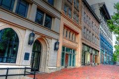 Im Stadtzentrum gelegene Asheville-Stadt Nord-Carolina Street Scene II lizenzfreie stockfotografie