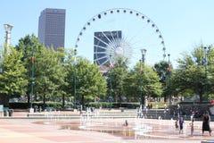 Im Stadtzentrum gelegene Atlanta-Skyline lizenzfreies stockfoto