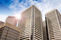Im Stadtzentrum gelegene Bürogebäude in Calgary, Alberta Stockbild