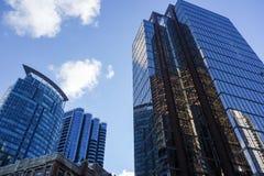 Im Stadtzentrum gelegene Bürohaus Lizenzfreies Stockfoto