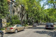 Im Stadtzentrum gelegene Baille-Straße Montreal-Ansicht Lizenzfreie Stockfotos