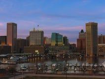 Im Stadtzentrum gelegene Baltimore-Skyline vom Bundeshügel Stockfotos