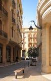 Im Stadtzentrum gelegene Beirut-Straße der Libanon Stockbilder