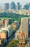 Im Stadtzentrum gelegene Boston-Luftaufnahme Stockfotografie