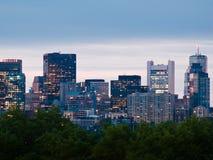 Im Stadtzentrum gelegene Boston-Wolkenkratzer lizenzfreie stockfotografie