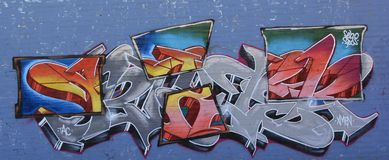 Graffiti in der Stadt Lizenzfreies Stockbild