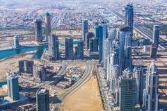 Im Stadtzentrum gelegenes Dubai Stockbild