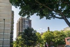 Im Stadtzentrum gelegene Eigentumswohnungen Montreals Stockbild