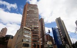 Im Stadtzentrum gelegene Gebäude Bogotas Stockbilder
