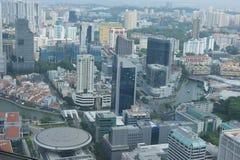 Im Stadtzentrum gelegene Geschäftsarchitektur Singapurs Lizenzfreie Stockbilder