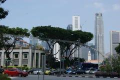 Im Stadtzentrum gelegene Geschäftsarchitektur Singapurs Lizenzfreie Stockfotografie
