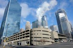 Im Stadtzentrum gelegene Geschäftsindustrien Lizenzfreie Stockfotos