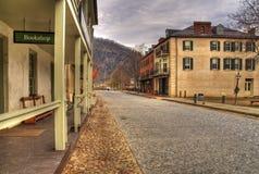 Im Stadtzentrum gelegene Harpers Fähre West Virginia Stockfotografie