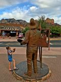 Im Stadtzentrum gelegene Hauptstraße von Sedona, Arizona, USA Stockfotos