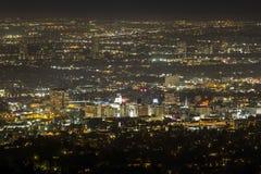 Im Stadtzentrum gelegene Hollywood-Nacht stockfotos