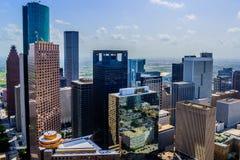 Im Stadtzentrum gelegene Houston-Gebäude lizenzfreies stockbild