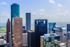 Im Stadtzentrum gelegene Houston-Gebäude stockbild