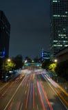 Im Stadtzentrum gelegene LA-Heckleuchten Stockfotos