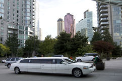 Im Stadtzentrum gelegene Limousine Vancouvers Lizenzfreie Stockbilder