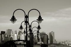 Im Stadtzentrum gelegene Manhattan-Skyline Lizenzfreies Stockfoto