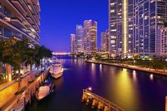 Im Stadtzentrum gelegene Miami-Gebäude Stockfotos