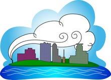 Im Stadtzentrum gelegene Minneapolis-Skyline Lizenzfreie Stockfotos