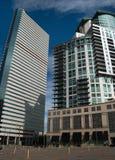 Im Stadtzentrum gelegene moderne Gebäude in Denver, Colorado Lizenzfreies Stockbild