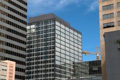 Im Stadtzentrum gelegene moderne Gebäude in Denver, Colorado Stockfoto
