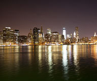 Im Stadtzentrum gelegene NYC Skyline Stockfotos