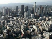 Im Stadtzentrum gelegene redaktionelle Antenne Los Angeless Stockfotos