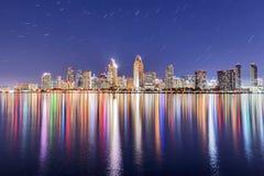 Im Stadtzentrum gelegene San Diego-Skyline Stockbilder