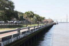 Im Stadtzentrum gelegene Savannah Georgia stockfotos