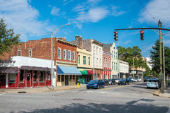 Im Stadtzentrum gelegene Savannah Georgia USA Stockfotos