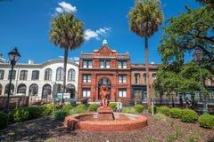 Im Stadtzentrum gelegene Savannah Georgia USA Stockfotografie