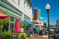 Im Stadtzentrum gelegene Savannah Georgia USA Lizenzfreie Stockbilder