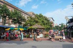 Im Stadtzentrum gelegene Savannah Georgia USA Stockbilder