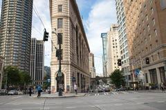 Im Stadtzentrum gelegene Seattle-4. Allee und Stewart Street Lizenzfreies Stockfoto