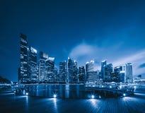 Im Stadtzentrum gelegene Singapur-Stadt in Marina Bay-Bereich Finanzbezirk a stockbilder
