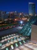 Im Stadtzentrum gelegene Skyline-Ansicht Stockfotos
