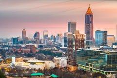 Im Stadtzentrum gelegene Skyline Atlantas, Georgia, USA lizenzfreie stockbilder