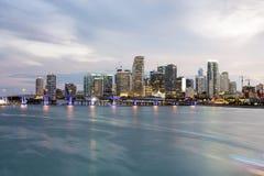 Im Stadtzentrum gelegene Skyline Miamis Stockfotografie