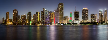 Im Stadtzentrum gelegene Skyline Miamis, Florida, USA Stockfoto
