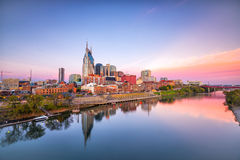 Im Stadtzentrum gelegene Skyline Nashville-, Tennessee Stockbild