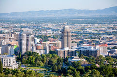 Im Stadtzentrum gelegene Skyline Salt Lake Citys Utah Stockbilder