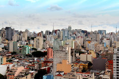 Im Stadtzentrum gelegene Skyline Sao Paulos Stockbilder