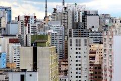 Im Stadtzentrum gelegene Skyline Sao Paulos Lizenzfreie Stockbilder