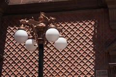 Im Stadtzentrum gelegene städtische Leuchte in San Luis Potosi stockfoto
