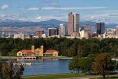 Im Stadtzentrum gelegene Stadt von Denver, Colorado Lizenzfreies Stockbild